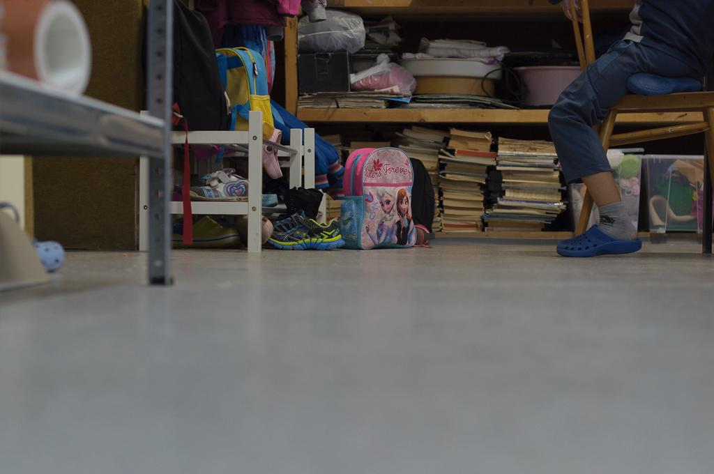 ZUŠ DUbnica nad Váhom, nová podlaha vo výtvarnom ateliéri.