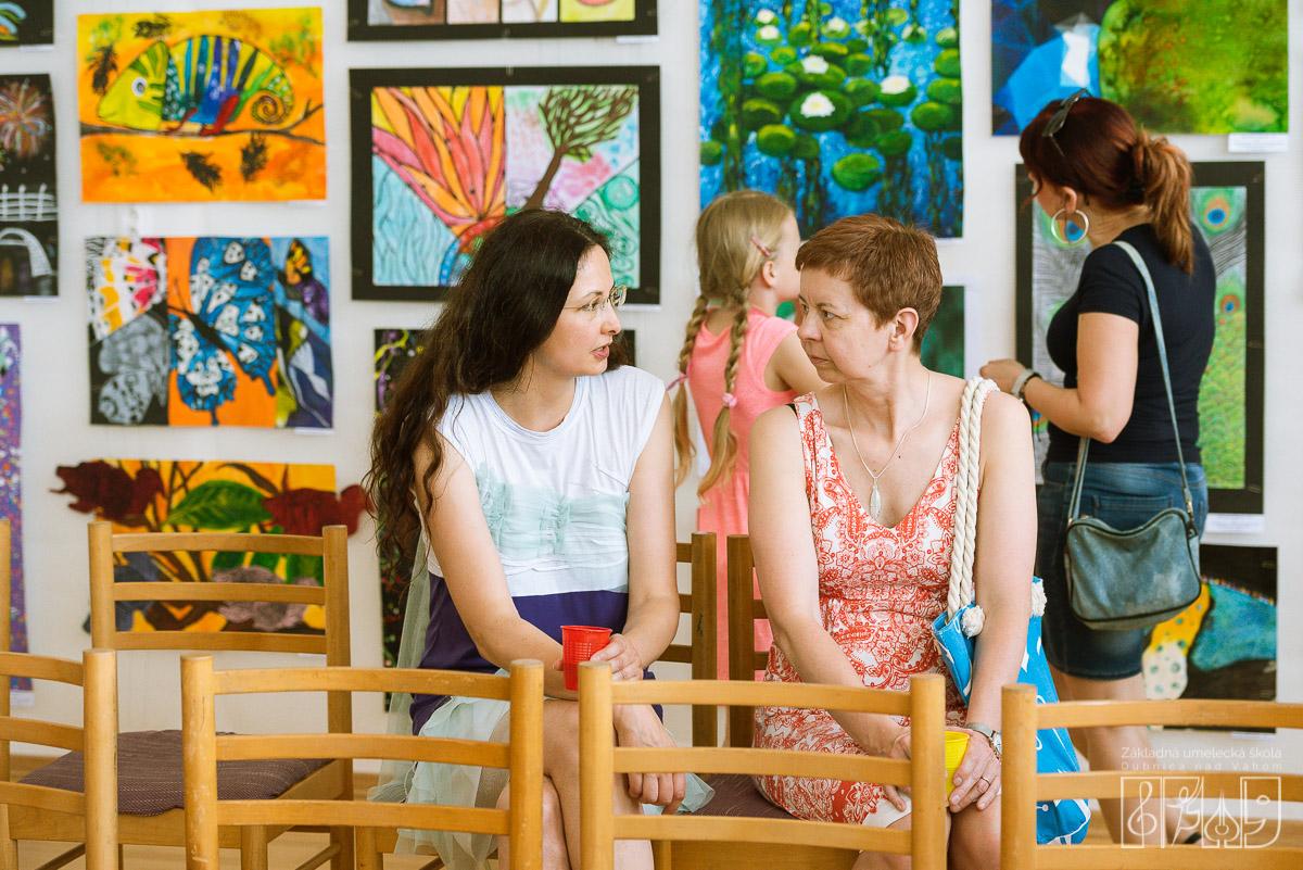 Vernisáž výstavy žiakov výtvarného odboru Základnej umeleckej školy Dubnica nad Váhom