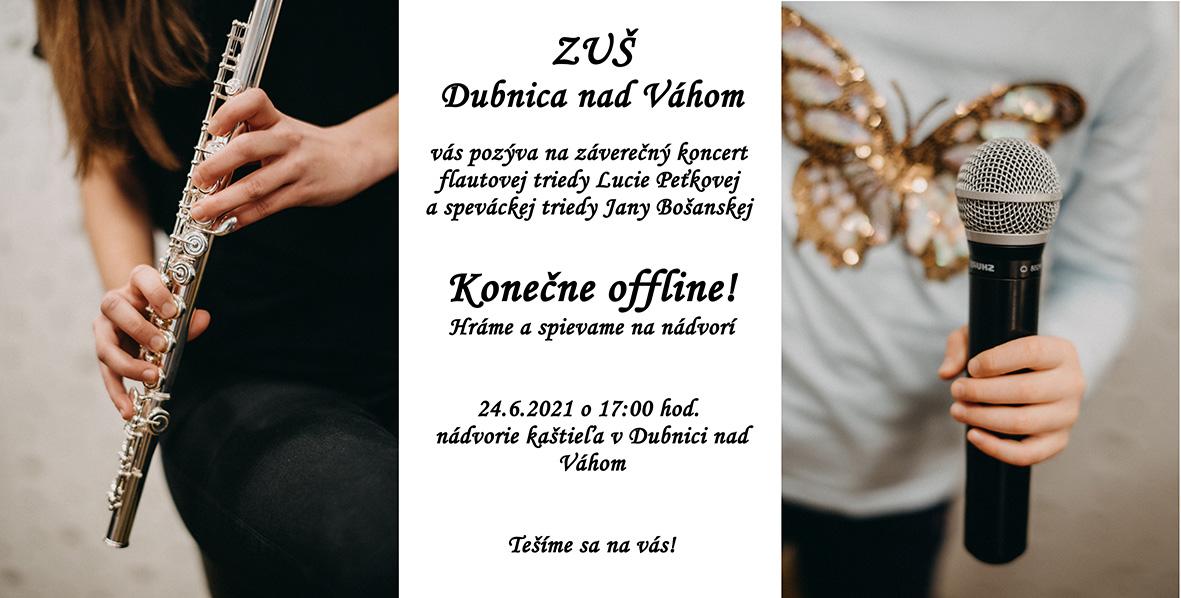 ZUŠ DCA, triedny koncert Peťková a Bošanská