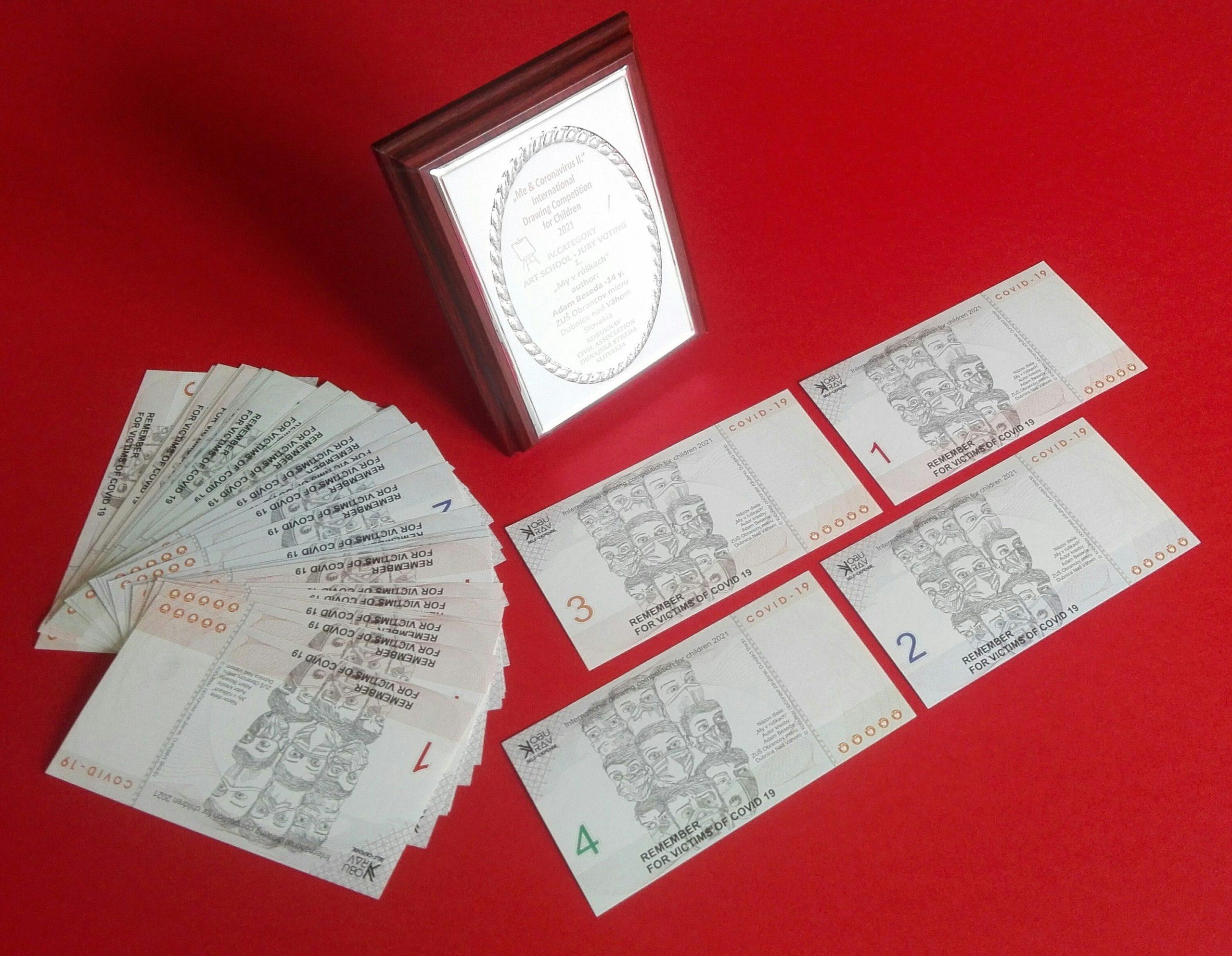 ZUŠ Dubnica nad Váhom, pamäné bankovka zo súťaže